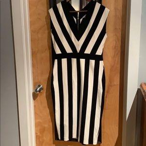 H&M Black and White Stripe Dress